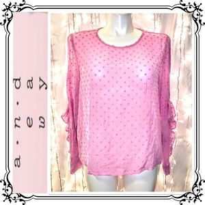 A NEW DAY * NWT Soft Pink Long Sleeve Blouse * XXL